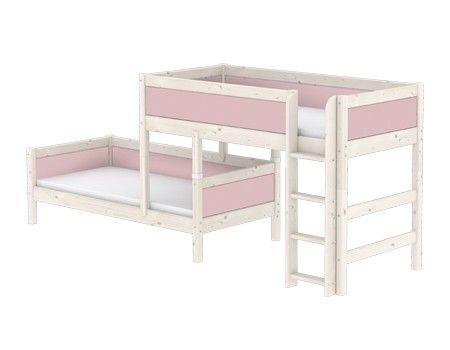 Etagenbett Rosa : Kinderbett rosa hochbett inkl lattenrost und